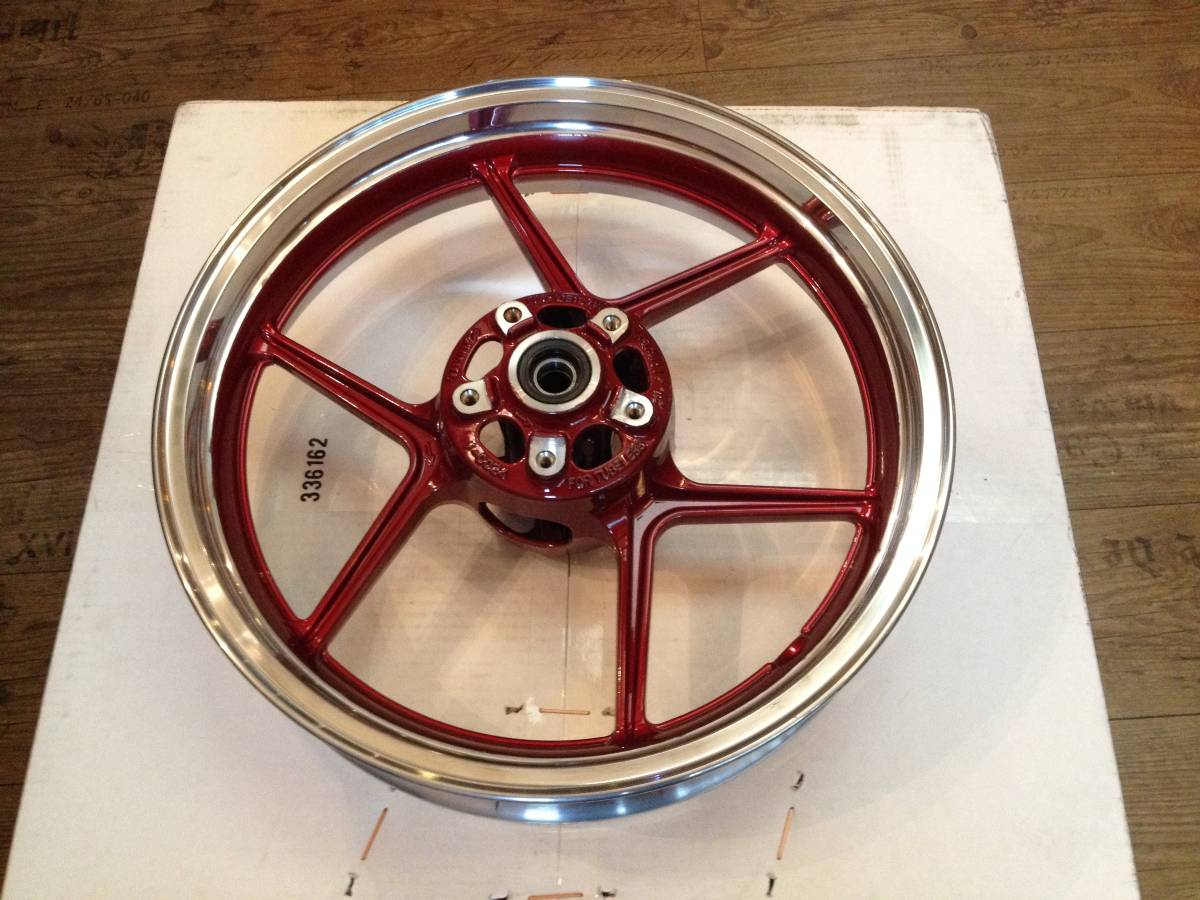 Polish Wheel with Red Paint